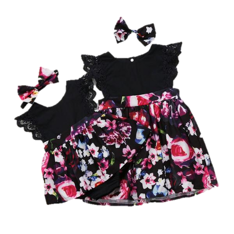 Matchy Match Sister Black Floral