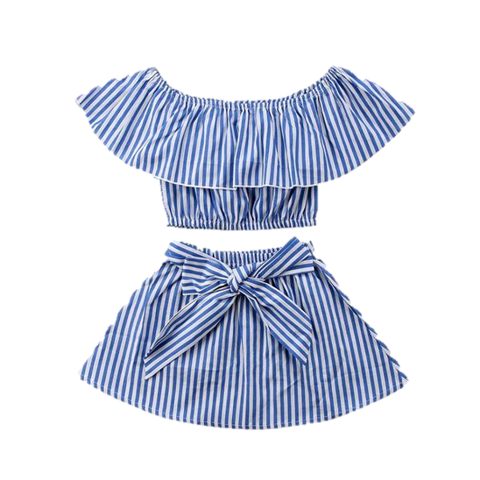 Striped Ruffle Set