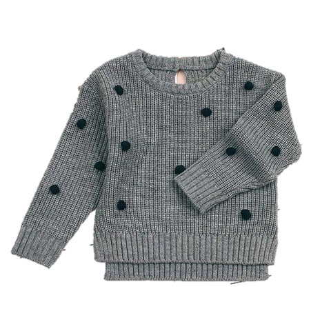 Dotti Knit Sweater Grey