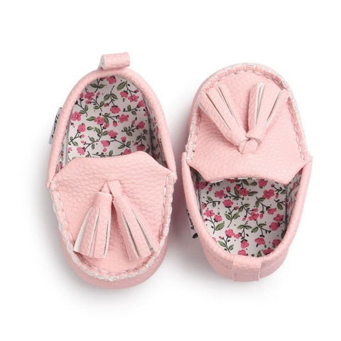 Baby Loafers Baby Pink