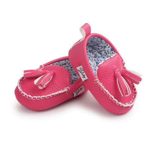 Baby Loafers Hot Pink