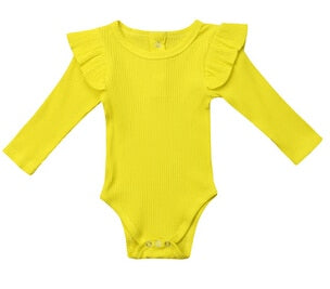 Hannah Fly Long Sleeve Romper Yellow