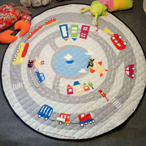 Play Mat with Storage Bag Cars