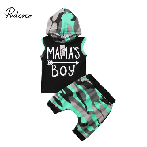Mama's Boy Hooded Singlet & Pants Set 2 Pieces