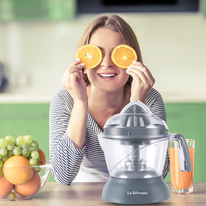 La Reveuse 25oz/750ml Electric Citrus Juicer for Grapefruit Orange Lemon Lime Juice, Grey,LARB1808