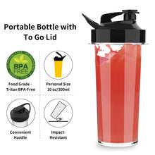 Personal Blender for Shakes Smoothies 200 Watt with Magnetic Drive Technology 10 oz BPA Free Portable Travel Bottle,Black
