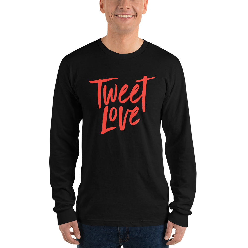 Tweet Love Logo Long sleeve T-Shirt: Black