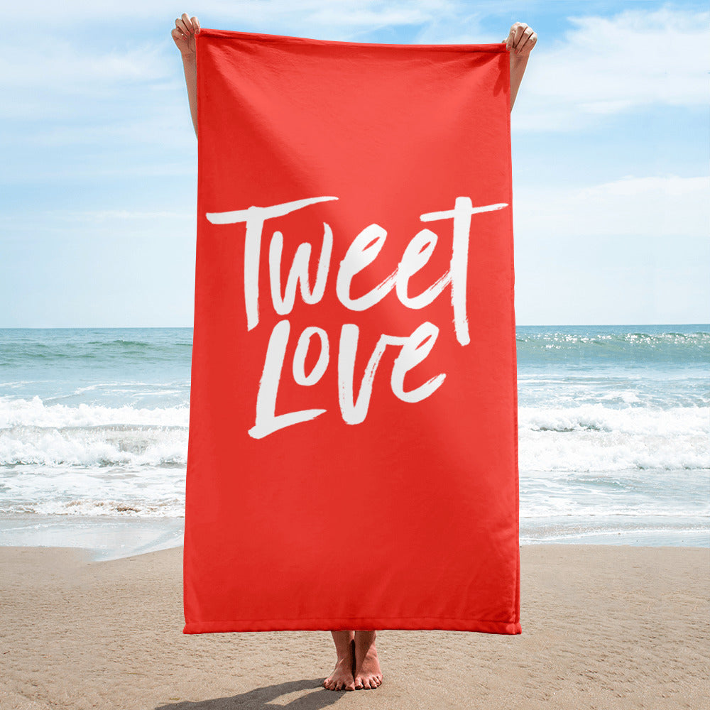 Tweet Love Logo Towel