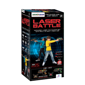 2 Pack Laser Battle Guns & Vest - Green & Orange