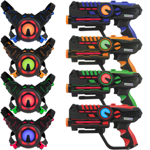 4 Pack Laser Battle Guns & Vests