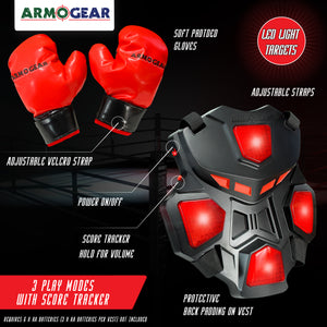 Boxing Battle - 2 Electronic Vests & 2 Pairs of Gloves