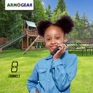 Voice Changing Walkie Talkies for Kids (Set of 2) 2-Mile, 8 Channel Long Range Outdoor Two-Way Radios
