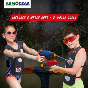 Water Guns & Water Activated Vests - 2 Pack