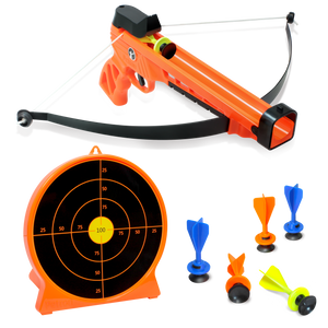 Kids Handbow and Target Archery Set - 6 Suction Darts & Stand-Up Target