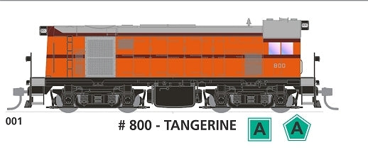 800 class With SOUND - #001 Loco No 800 in TANGERINE  SOUTH AUSTRALIAN RAILWAYS: SDS Models NOW AVAILABLE