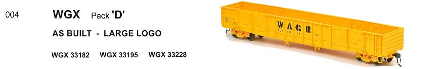RRP $198 Save $60: WGX 004 SDS Models : WAGR WGX OPEN WAGON as built - LARGE LOGO pk D.
