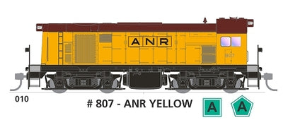 800 class DC Powered - #010 Loco No 807 in ANR YELLOW SOUTH AUSTRALIAN  RAILWAYS : SDS Models NOW AVAILABLE