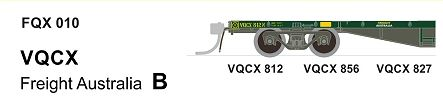 SDS Models: VIC Railways: FQX / FOF / VOCX / Container Wagon with Lashing Rails: FQX010