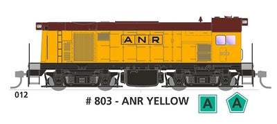800 class with SOUND: #012 Loco No 803 in ANR YELLOW SOUTH AUSTRALIAN RAILWAYS: SDS Models NOW AVAILABLE
