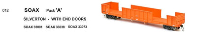 RRP $198 Save $60: WGX SOAX 012 SDS Models : WAGR  OPEN WAGON SOAX SILVERTON - w/ END DOORS PACK A.