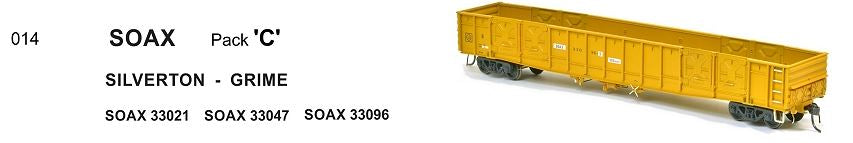RRP $198 Save $60: WGX SOAX 014 SDS Models : WAGR OPEN WAGON SILVERTON - GRIME PACK C.