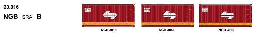 SDS Models: 20-016 20' Foot Containers: L / D / NGA / NGB / MSL / VSL: Triple Packs: NGB 20.016
