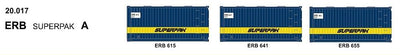 SDS Models: 20-017 20' Foot Containers: L / D / NGA / NGB / MSL / VSL: Triple Packs: ERB 20.017