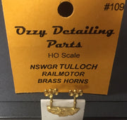 Air Horns # 109 Tulloch Rail Car Ozzy Brass #109 *