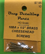 10BA CHEESEHEAD 1/2 inch BRASS SCREWS Qty 10