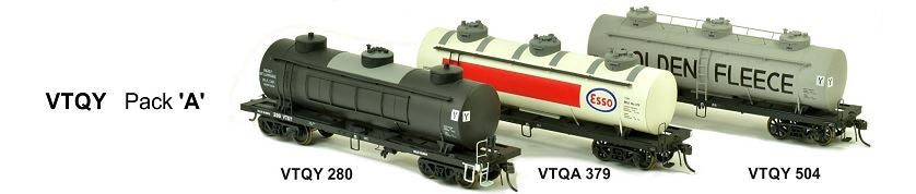 RRP $198 Save $53:  VTQY SDS Models: Vic Railways: 10000 Gallon Rail Tank Car: VTQY Pack A