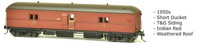 EHO SDS Models: EHO 1991 Express Brake Van, 1950s, Indian Red, Weathered Roof