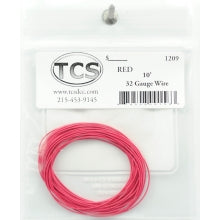 TCS #1209 : 10ft 32awg - Red