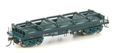 Auscision Models: NSW-22 NCX STEEL WAGON WITHOUT TARP HOOPS, NSWGR PTC BLUE 4 CAR PACK #NSW-22