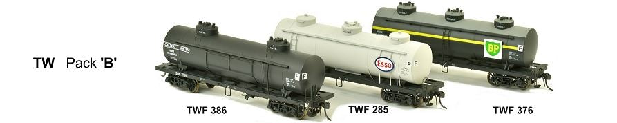 TW SDS Models: TW Pack C Victorian Railways: 10000 Gallon Rail Tank Car: TW Pack C RRP $198.00 SALE DISCOUNT PRICE $145