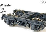 SDS Models: Bogies: 2AD, #124, Bogie with 4-Hole Disc Wheels: ASB124