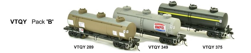 RRP $198 Save $53!!:  VTQF SDS Models: Vic Railways: 10000 Gallon Rail Tank Car: 3 X VTQF Pack A  *