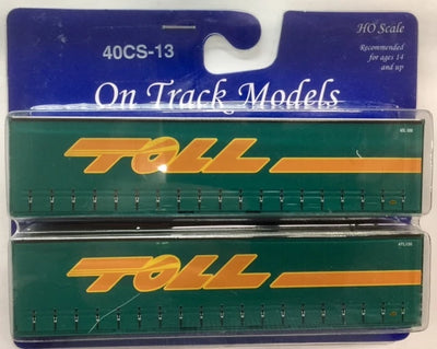 13. 40' Curtain Sider Containers #40CS-13 On Track Models: TOLL (2 PACK)