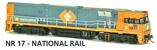 NR17 Austrains Neo: National Rail Non-Powered Dummy NR Class Locomotive: