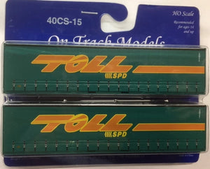 15. 40' Curtain Sided Containers #40CS-15 TOLL SPD – 3NW855 (V3) & 3NW997 (V3) On Track Models:  (2 PACK)