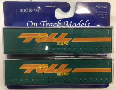 16. 40' Curtain Sided Containers #40CS-16 TOLL SPD – ST326 (V1) & 3NW847 (V3) On Track Models:  (2 PACK)