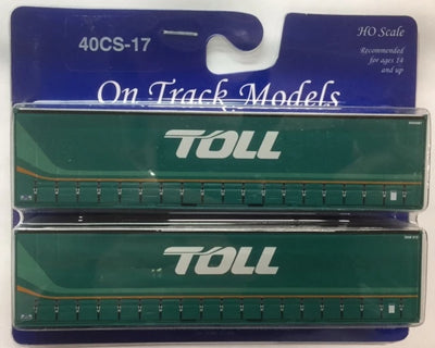 17. 40' Curtain Sided Containers #40CS-17  TOLL (New Scheme) – NW4987 (V4) & 3NW815 (V3) On Track Models:  (2 PACK)