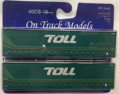 18. 40' Curtain Sided Containers #40CS-18  TOLL (New Scheme) – NW4844 (V3) & 3NW845 (V3) On Track Models:  (2 PACK)