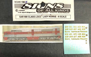 "SK190 N Scale - SAR 900 CLASS LOCOMOTIVE - LADY NORRIE  - VALUE PK ""N SCALE"""