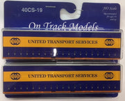 19. 40' Curtain Sided Containers #40CS-19  United Transport – TL2 (V1) & TL8 (V1) On Track Models:  (2 PACK)