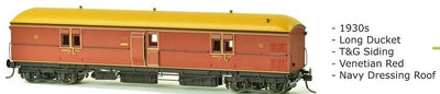 EHO SDS Models: 1930's EHO1990 As Built Venetian Red Express Brake Van Navy Dressing Roof. #002
