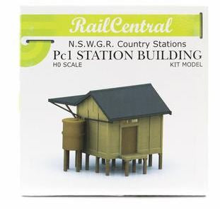 Rail Central : Station RC1003K NSWGR PC1 CONCRETE STATION BUILDING PLASTIC KIT. Retails $48.00 SPECIAL $24.00