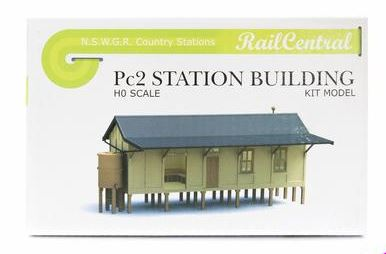 ANNIVERSARY DISCOUNT SALE Rail Central: Station RC1004K NSWGR PC2 CONCRETE STATION BUILDING KIT. Retails $65.00