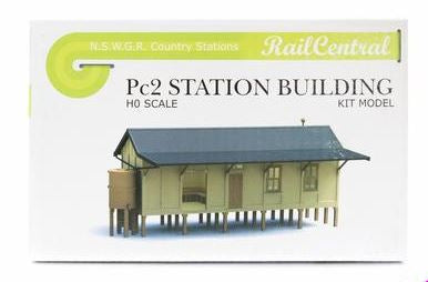 Rail Central: Station RC1004K NSWGR PC2 CONCRETE STATION BUILDING KIT. Retails $58.00 SPECIAL $29