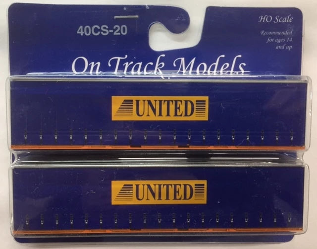 20. 40' Curtain Sided Containers #40CS-20  United Transport – TL25 (V1) & TL29 (V1) On Track Models:  (2 PACK)