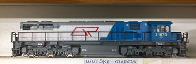 QR Wuiske Models 2107D Loco : RTR063: HO 12 mm: QR blue/gray 2100 Class : #2107D DRIVER ONLY